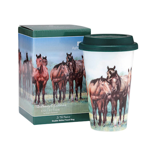 Beauty of Horses In the Pasture Travel Mug