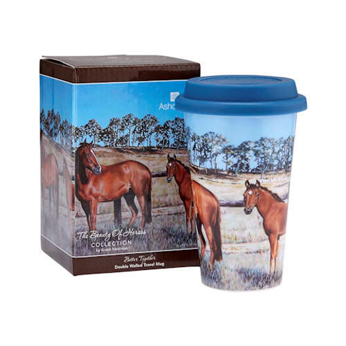 Beauty of Horses Better Together Travel Mug