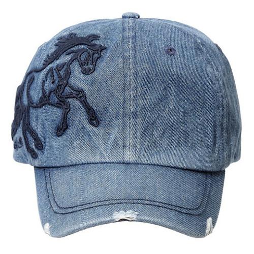 Denim Horse Cap