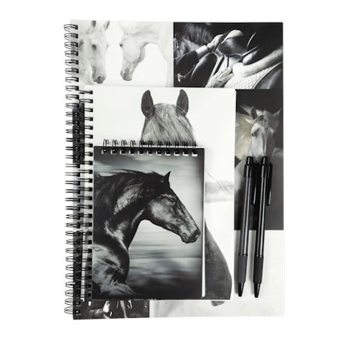 Black and White Horses - Notebook Pack