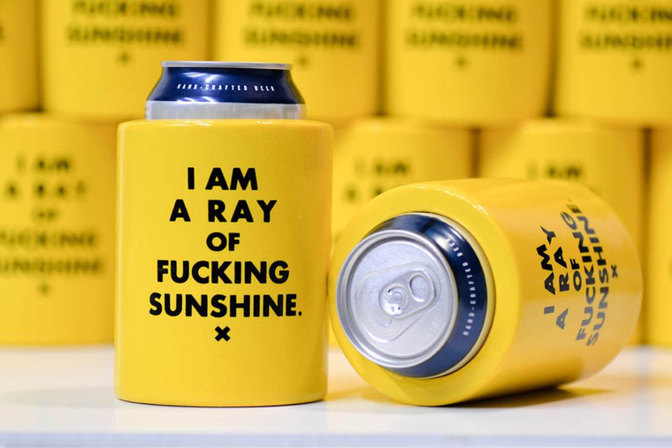 Beer Koozie Sunshine