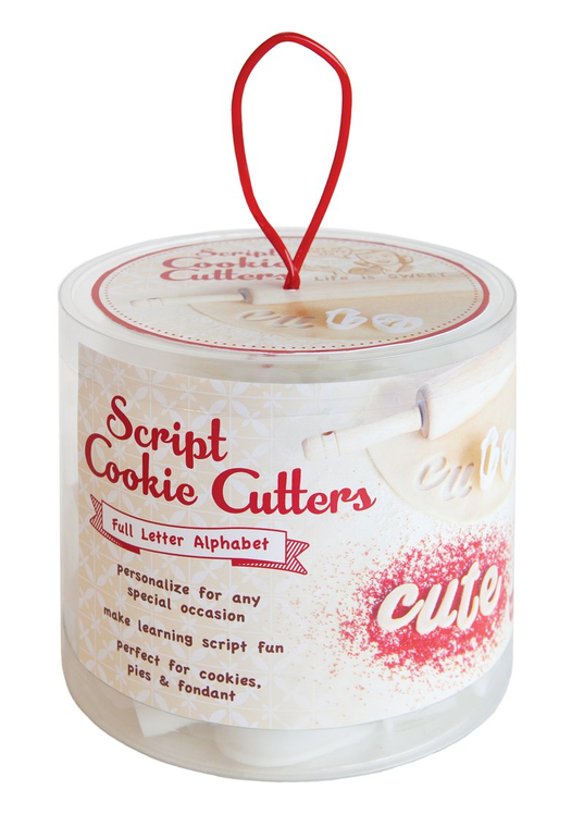 Script Letter Cookie Cutters