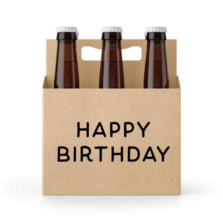 Happy Birthday Six Pack Holder