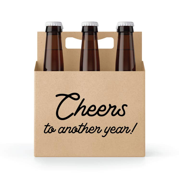 Cheers to Another Year Six Pack Holder