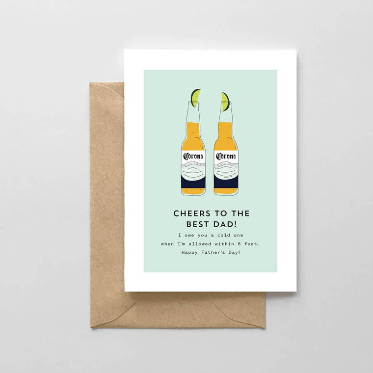 Corona Beer Fathers Day Card