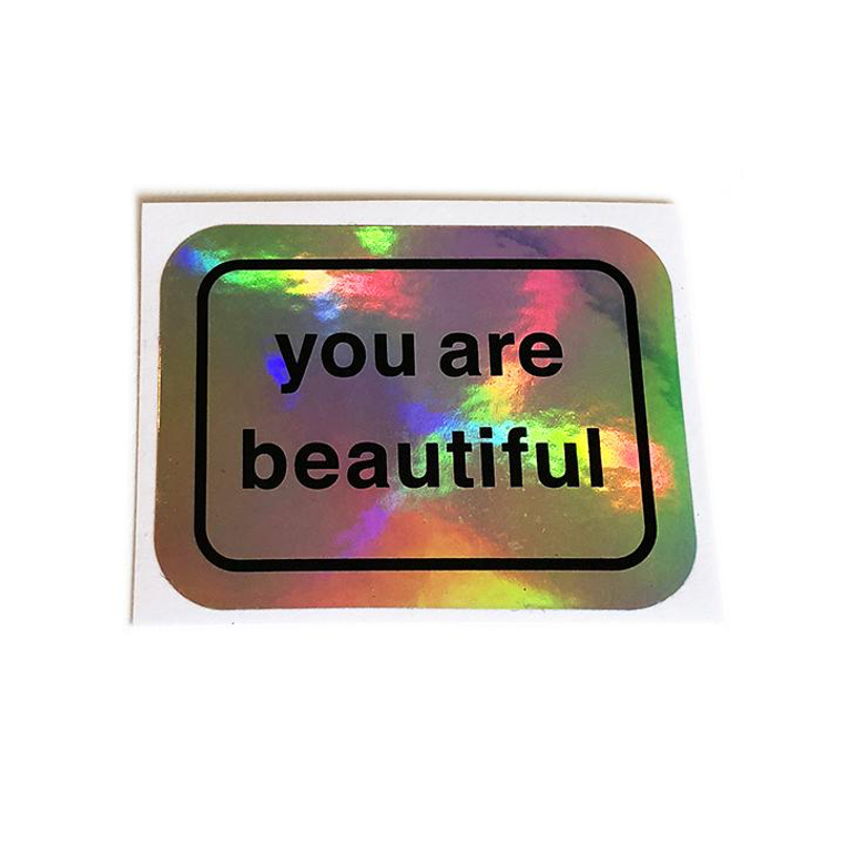 You Are Beautiful Holographic 20 pack