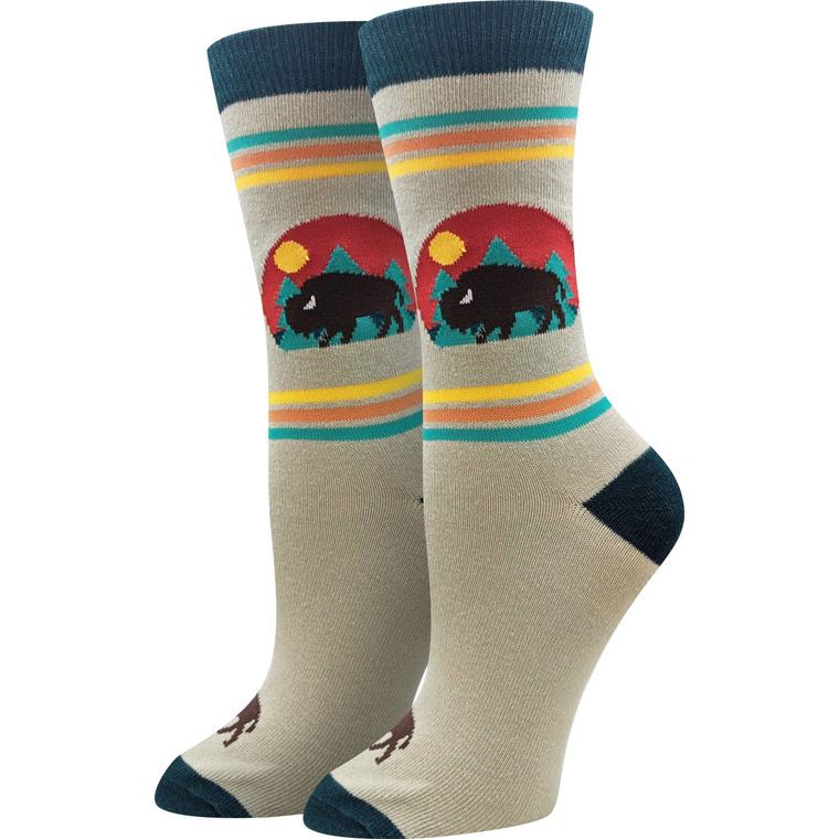 Bison Sunset Sock
