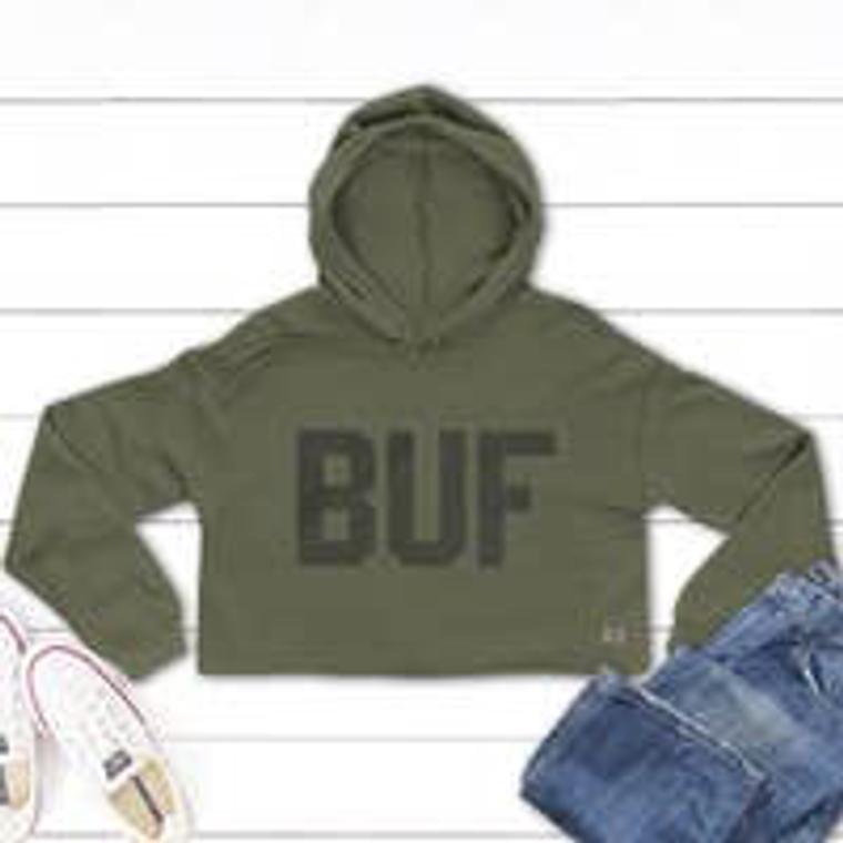 Buf Green Crop Sweatshirt