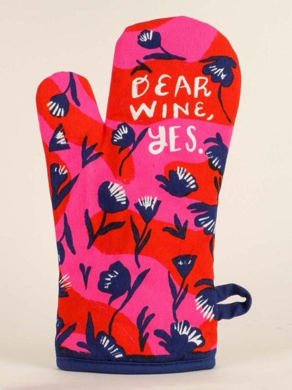 BQ Oven Mitt Dear Wine  Yes