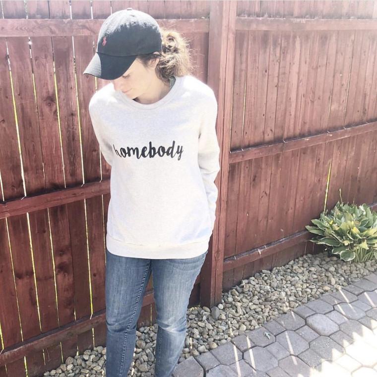 Homebody Sweatshirt Light Heather Grey