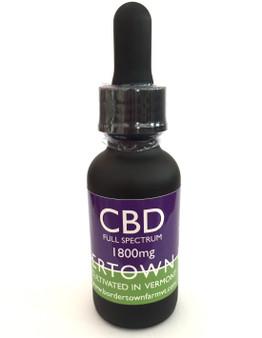 1800mg Full Spectrum Organic CBD in Organic Olive Oil.  Flavor: Plain