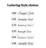 Distinctive 7 Tablet Set font options