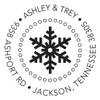 Simple Snowflake Self Inking Stamp