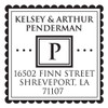 Scalloped Initial Self Inking Stamp