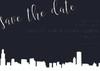 Elegant Skyline: Save The Date