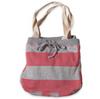Pink Striped Sweatshirt Tote