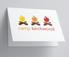 Camp Fire Folded Note
