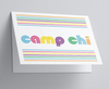 Pop Name Camp Folded Note