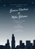 Chicago Night Silhouette Invitation