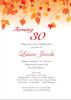 Leaf Silhouette Birthday Invitation