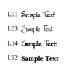 Merida Cutting Board - 4 Fonts