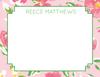Petal Pink Floral Flat Note