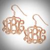 Monogram Earrings- Multiple Metals