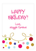 Gold Curly Border & Dots Gift Sticker