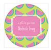 Watermelon Circle Gift Sticker