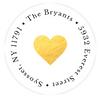 Heart of Gold Address Label