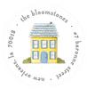 Tiny No Place Like Home Address Label
