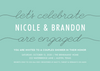 Teal Ribbon Invitation