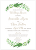White Leaf & Vine Invitation