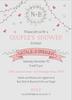 Gray Wreath & Banner Invitation
