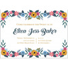 Floral Border Birthday Invitation