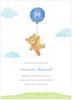 Blue Floating Bear Birth Announcement