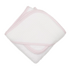 Pink Seersucker Hooded Towel & Washcloth Set