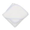Blue Seersucker Hooded Towel & Washcloth Set