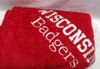 Red Fleece Blanket - Add your college