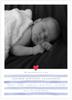 Blue Painterly Stripes Birth Announcement
