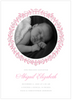Pink Painted Precious Birth Announcement