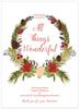 Botanical Wreath Flat Holiday Greeting Card