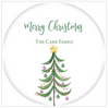 Modern Tree Holiday Gift Sticker