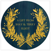 Gold Wreath Holiday Gift Sticker