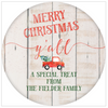 Merry Christmas Y'all Holiday Gift Sticker