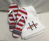 Towel Wrap  and Flip Flop Set