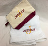 Towel Wrap and Canvas Cosmetic Bag Set