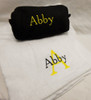 Towel Wrap and Small Waffle Cosmetic Bag Set