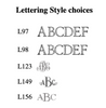 Pareja Pint Glass- 5 fonts