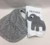Elephant Burp and Gray Polka Dot Bib Set